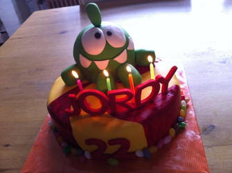 Cut the Rope Birthday cake by FireKylling