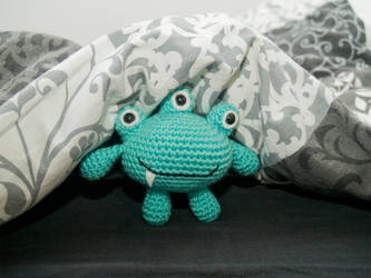Amigurumi Little Bed Monster by FireKylling
