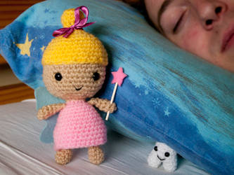 Amigurumi Tooth Fairy and Happy Tooth by FireKylling