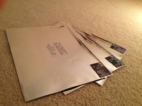 For Sale - Brilliant Silver Metallic Envelopes!