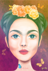 Frida Kahlo by gmdae