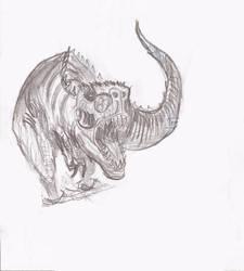 t-rex attack by rickdu29