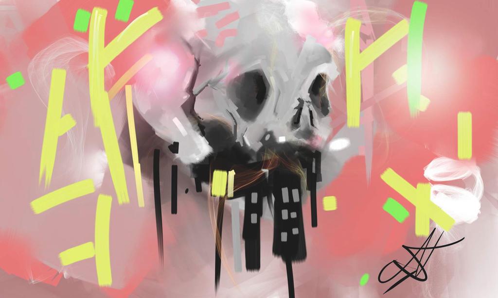 Cool skull by LeNikiZeCat
