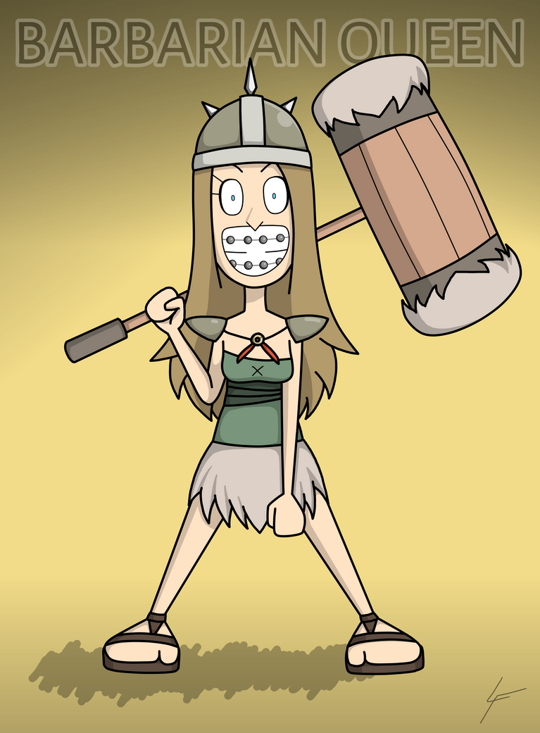 Kirsha the Barbarian Queen by DrawingGenius
