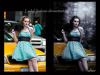 Don't Be Late - before+after by LadyUndone
