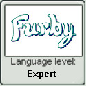 Furby Language Level Stamp (Expert) by Zakariart123