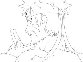Lineart: Naruto. by boing-paradise