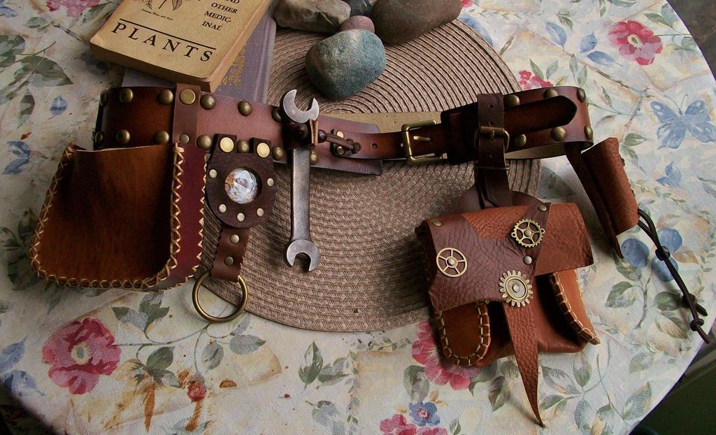 Steampunk leather belt by lafuellingfacades on deviantart - Steampunk bett ...