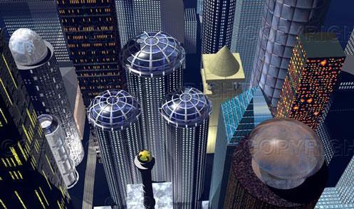 Futuristic City by syths-cortex