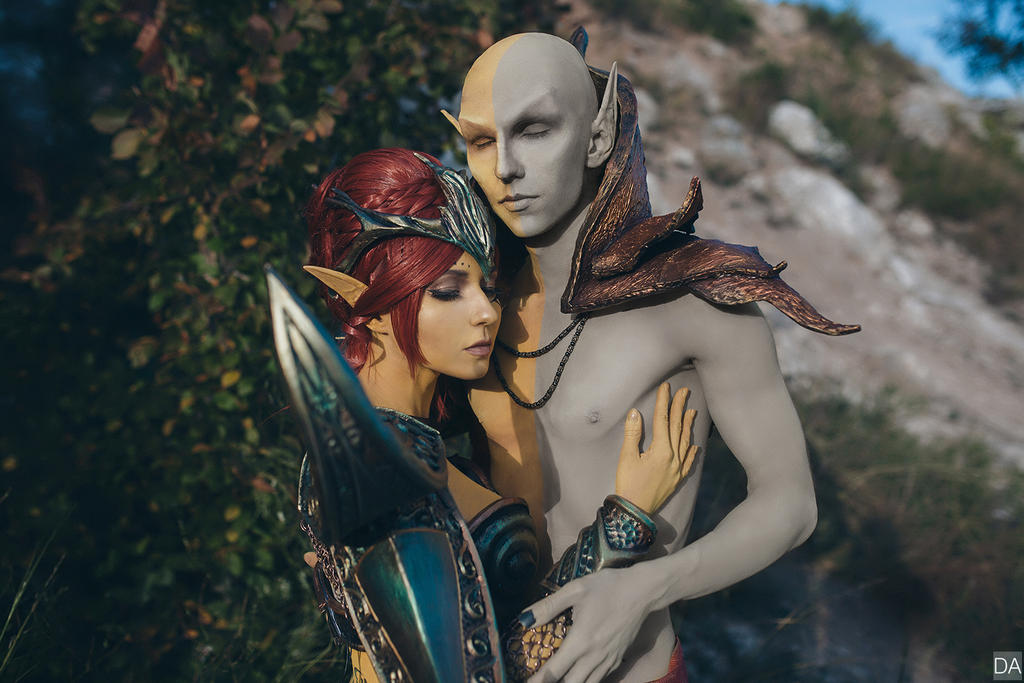 The Chimer Vivec And Almalexia By Isugi On Deviantart
