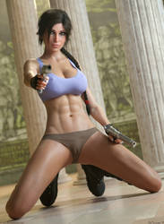 Lara Croft - Get Down Boy! by DeT0mass0