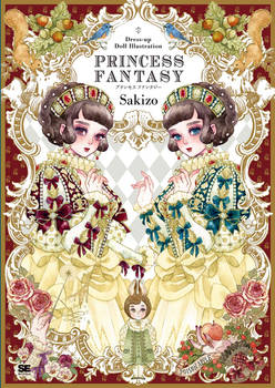 Princess Fantasy,Paper doll and illustration book