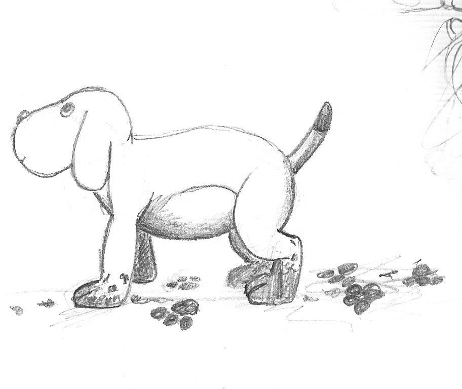 muddy dog clipart - photo #8