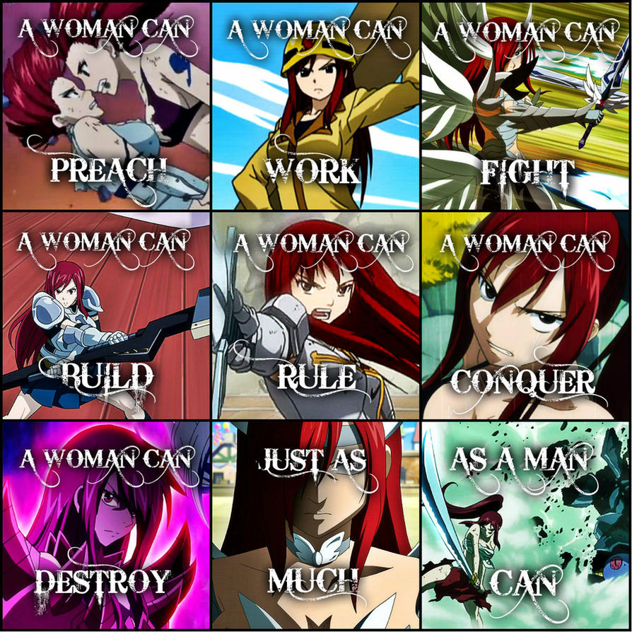 Fairy Tail A Woman Can Erza Scarlet By Flames Keys