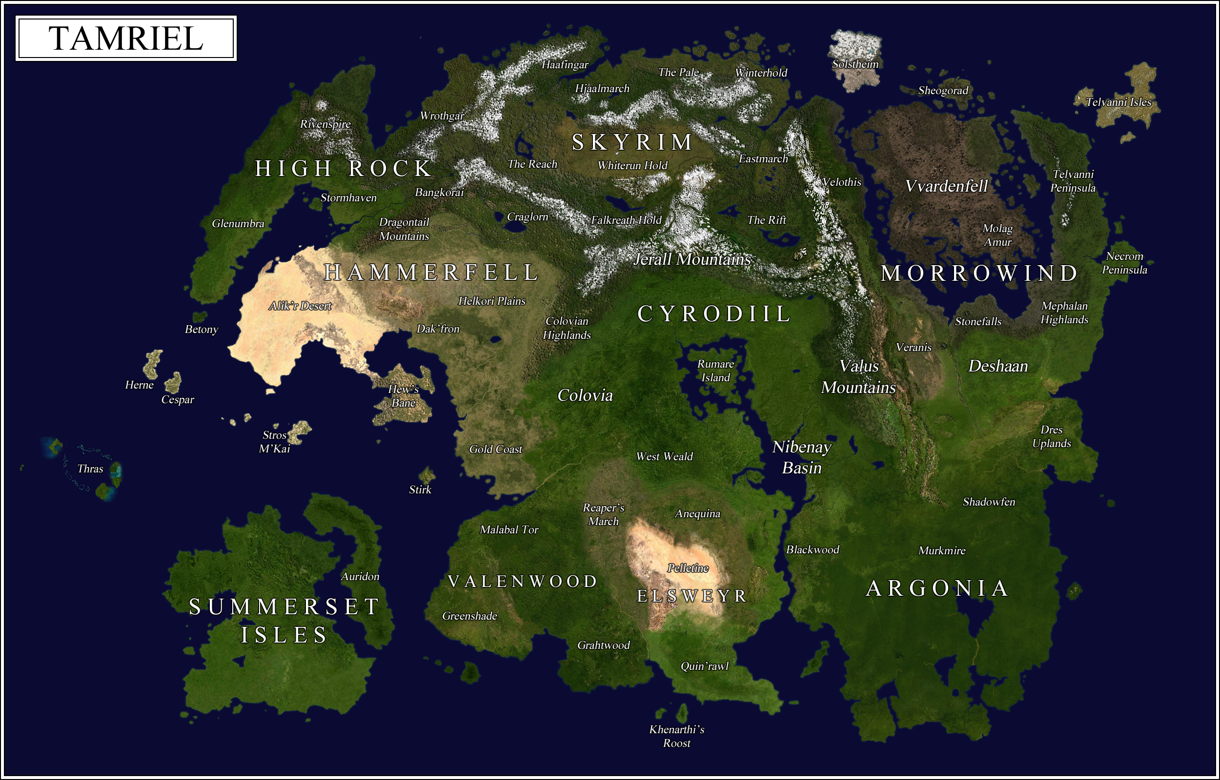 Satellite-style map of Tamriel : imaginarymaps on google tv map, google commercial map, google maps florida, google chrome, google search, bing maps, google mars, google moon, google map maker, google goggles, google street view, google aerial maps, google government map, web mapping, philippines map, google road map, google latitude, google 3g map, google translation, google maps usa united states, google mapa, yahoo! maps, google maps navigation, google translate, google military map, google lightning map, satellite map images with missing or unclear data, google docs, google network map, route planning software, google earth, google voice, google sky, google world map,
