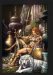 Red Sonja lounging