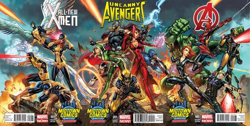 Avengers triptych