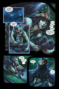 The Secret Life of Crows page 5 Lettered