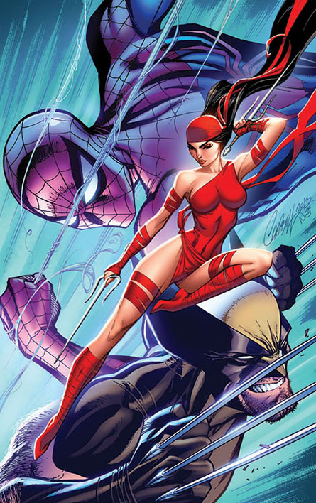 SavageWolverine Spidey and Elektra by ToolKitten