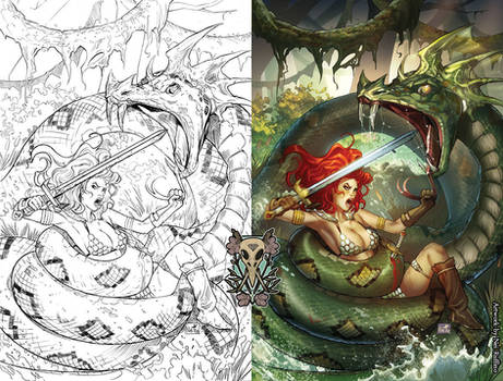 Red Sonja issue 8 cover