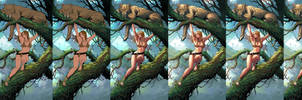 Jungle Girl steps and tutorial