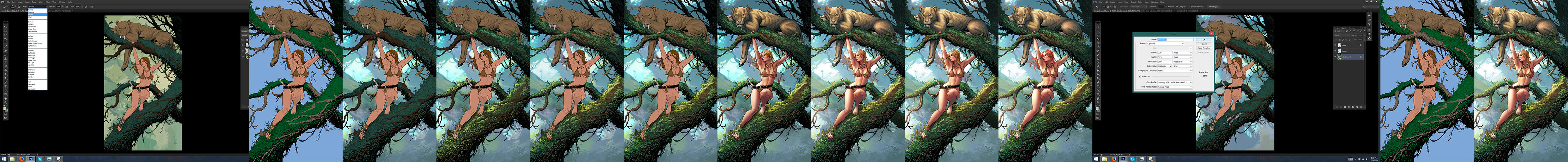 Jungle Girl steps and tutorial by ToolKitten