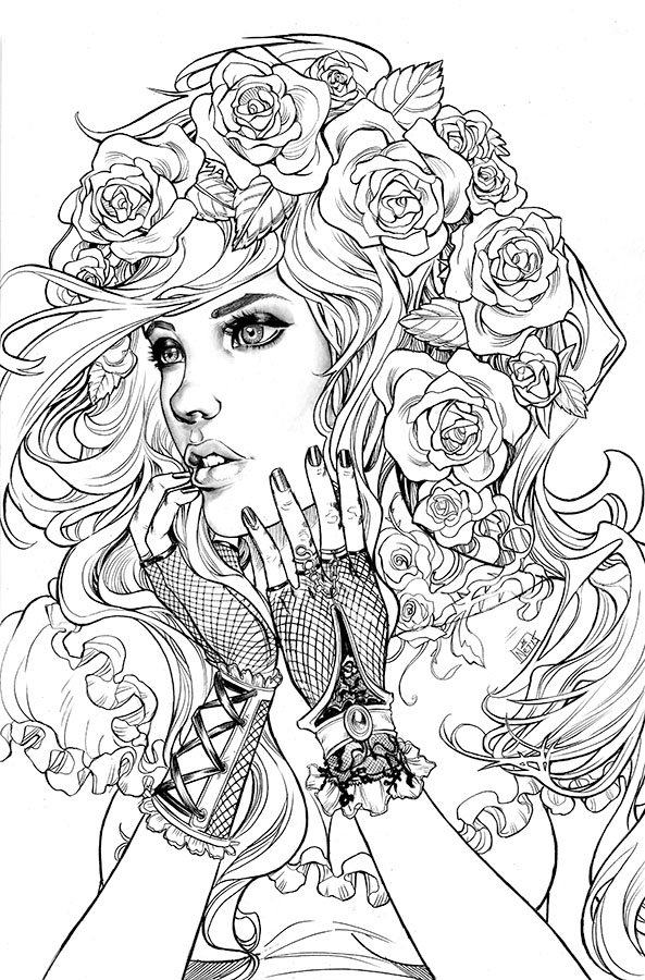 face coloring pages adults - photo#21
