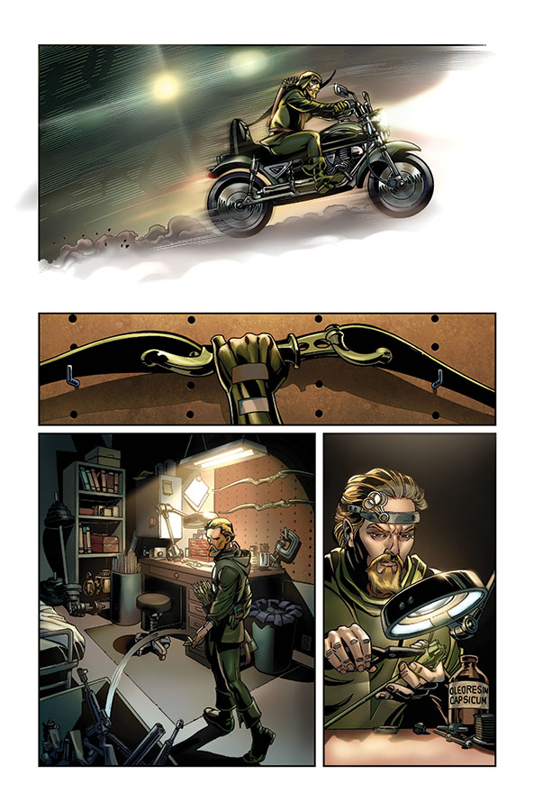 Green Arrow Convergence page 4 by ToolKitten