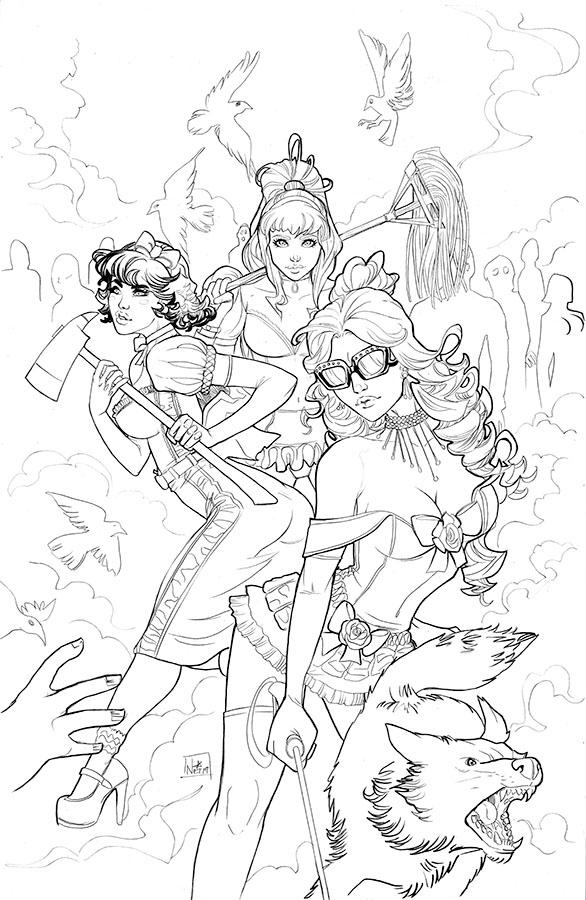 Princesses.VS.Zombies  BW