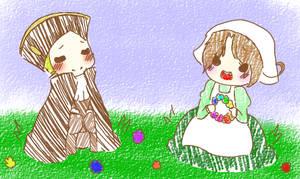 In the Flower Fields.. by gaaragirl654321