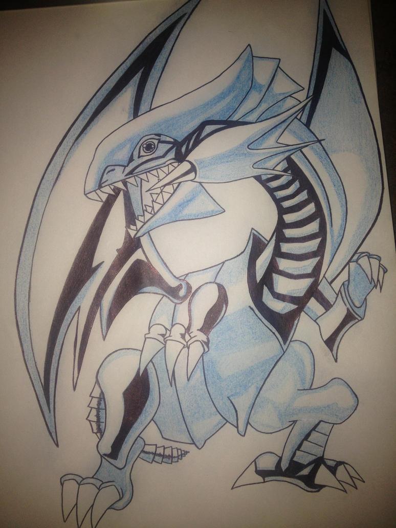 blue eyes white dragon yugioh by darkmagician4 on deviantart