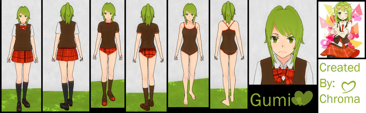 Yandere Simulator Gumi Custom Skin
