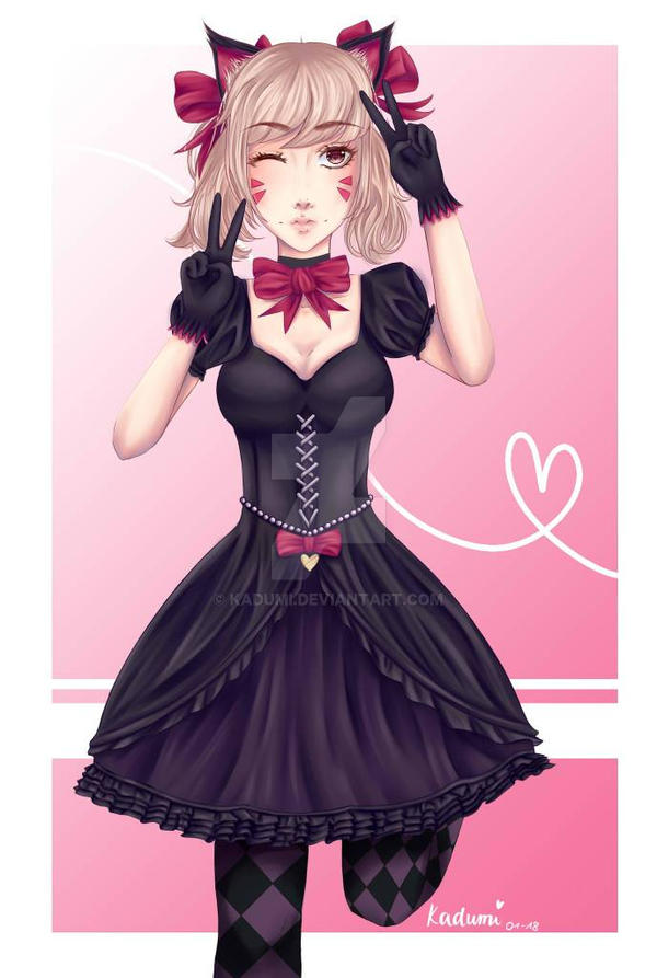 Fanart D.Va Black Cat by Kadumi