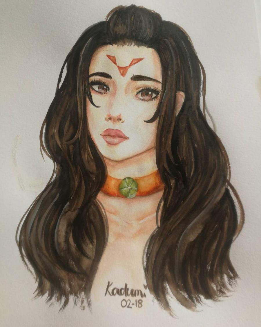 Watercolor piece  by Kadumi