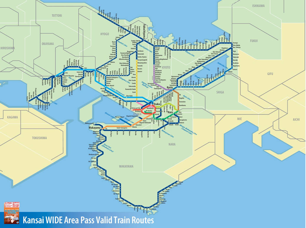 JR West - Kansai WIDE Area Pass by benliau0227 on DeviantArt