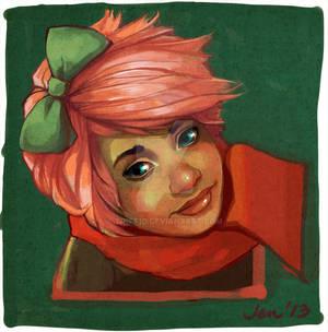 Stylised portrait commission example