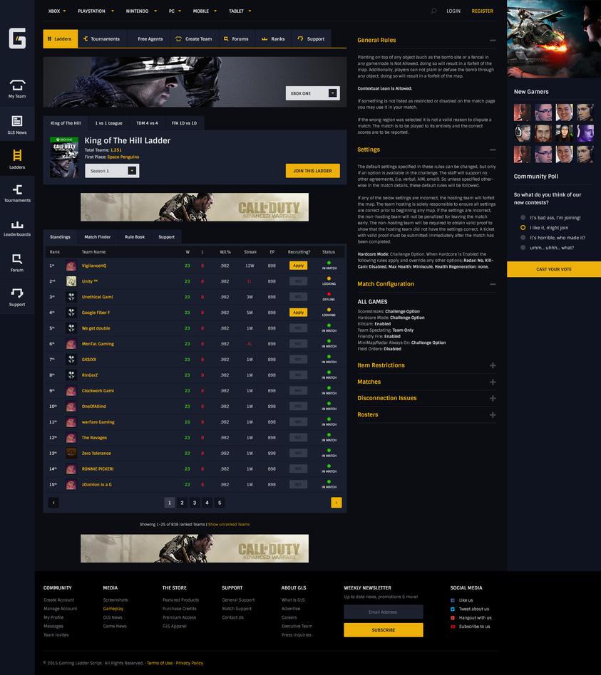 Gaming Ladder Script - Specific Ladder Standing by JereKel