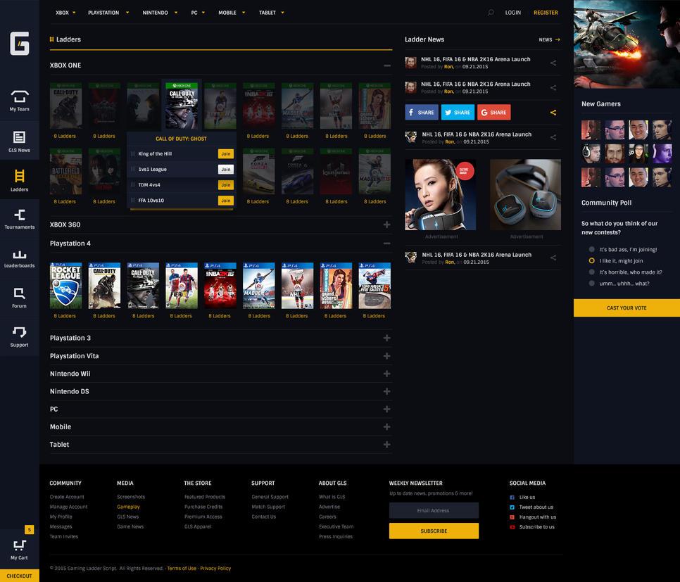 Gaming Ladder Script - Ladder Listings by JereKel