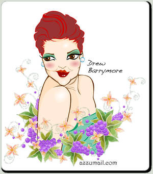 Drew Barrymore Portrait