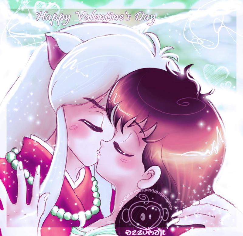 Kikyo And Kagome Lesbian Kiss Sex: InuYasha + Kagome Sweethearts By Azzumail On DeviantArt