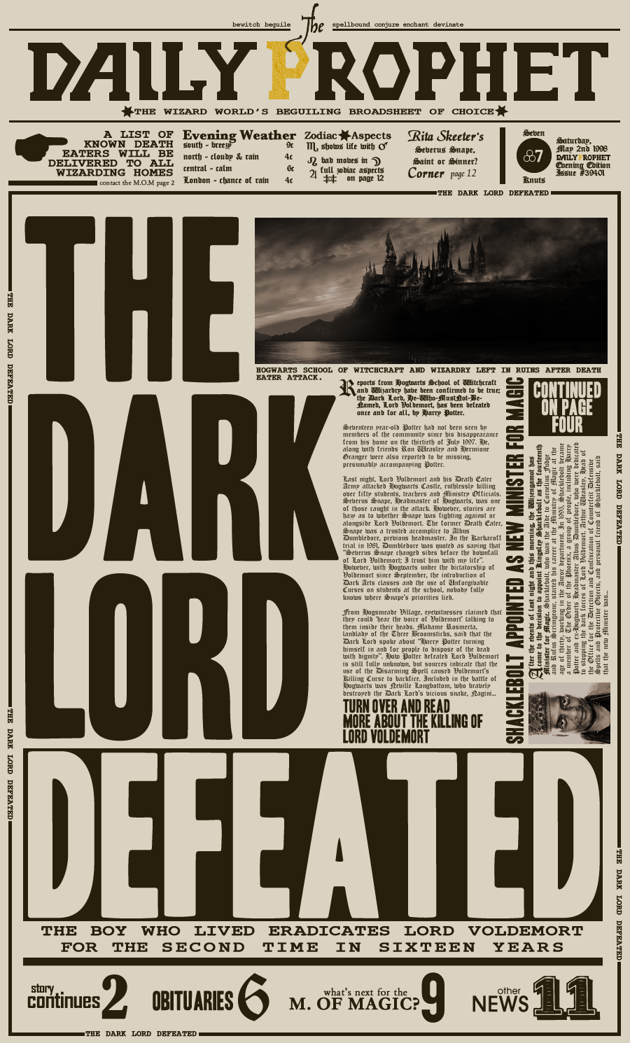 The Daily Prophet By Nathanthenerd On Deviantart