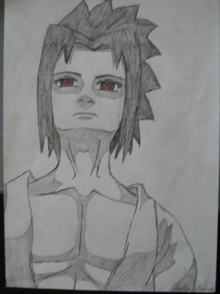 Sasuke's stare by Hinyness