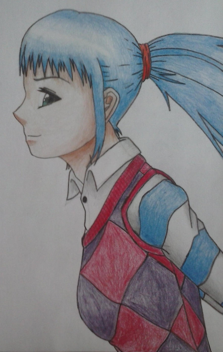Girl in vest by Hinyness