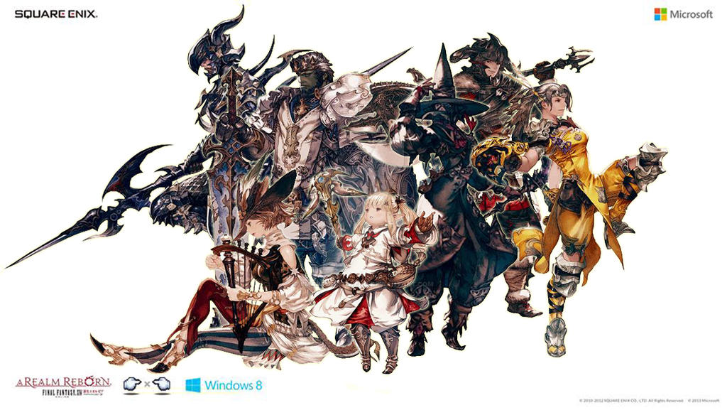 All Together Classes In Final Fantasy Xiv By Emantuohtiweno On Deviantart