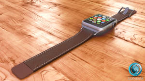 Apple watch with leather strap
