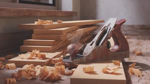 Woodwork workbench - plane jack