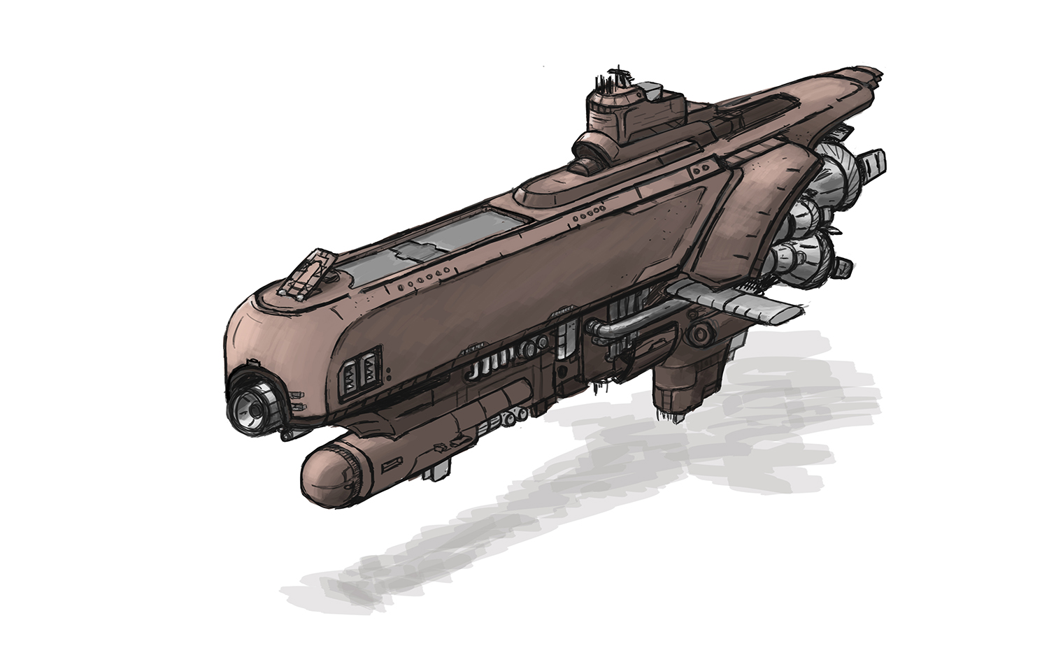 Diesel Space - Destroyer concept by Skaiway