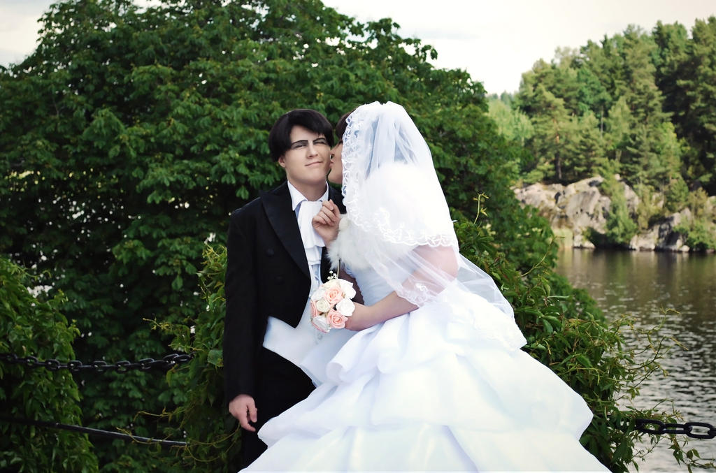 Levi and eren wedding kiss by aggestardust on deviantart levi and eren wedding kiss by aggestardust junglespirit Images