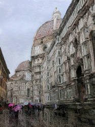 Rain in Florence (second version) by seianti