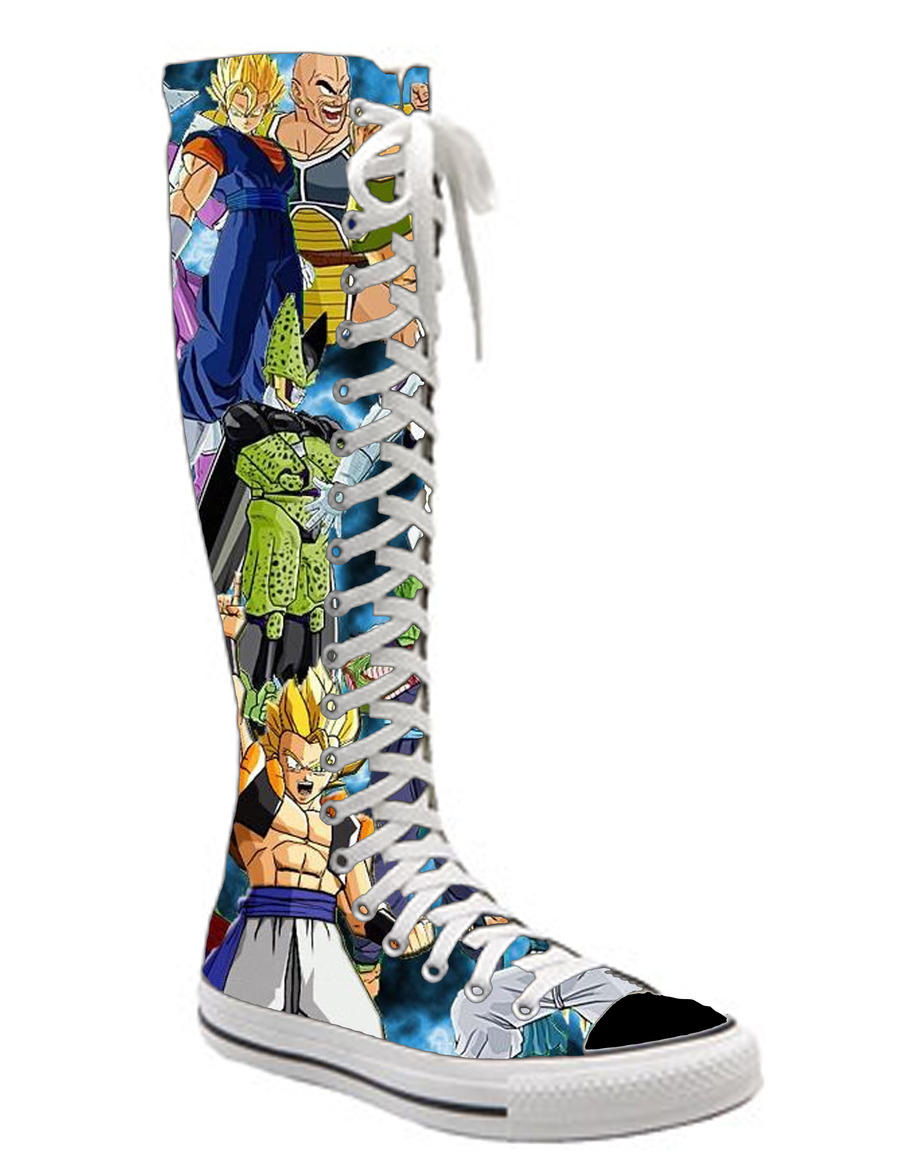 DBZ knee high converse by Knee High Converse Sneakers